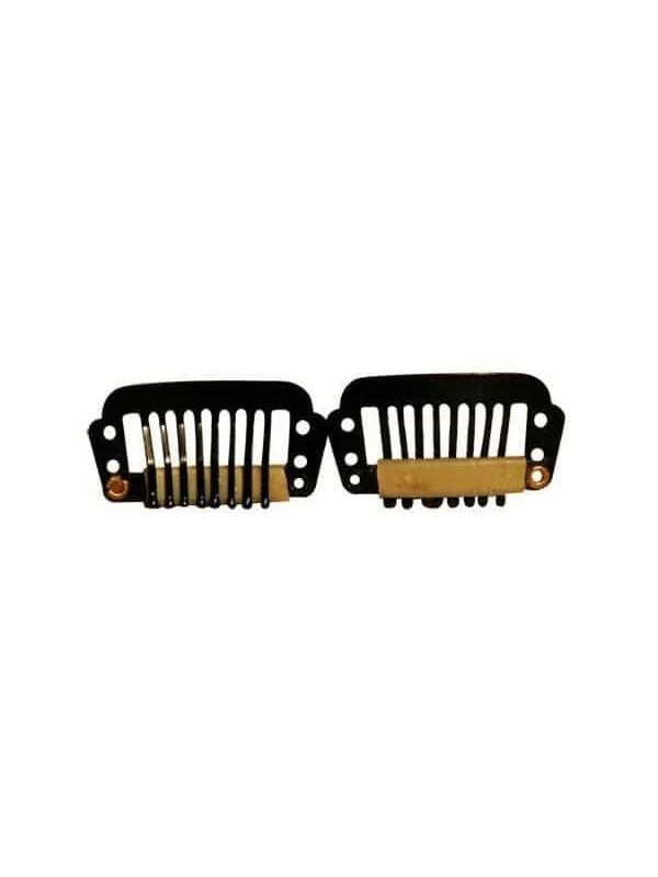 Clips De Fixation Pour Perruque Noir X2