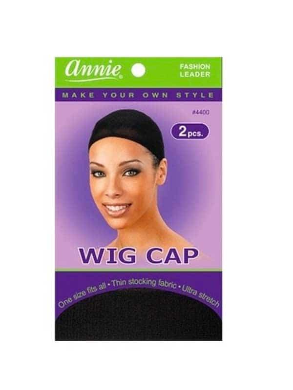 Bonnet Noir Pour Perruque (Wig Cap) X2