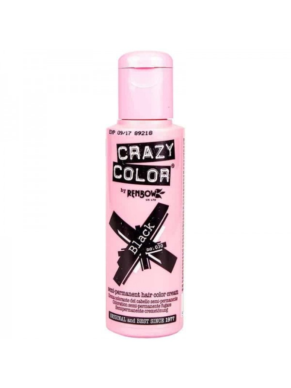 Coloration Semi Permanente Pour Cheveux Crazy Color Black