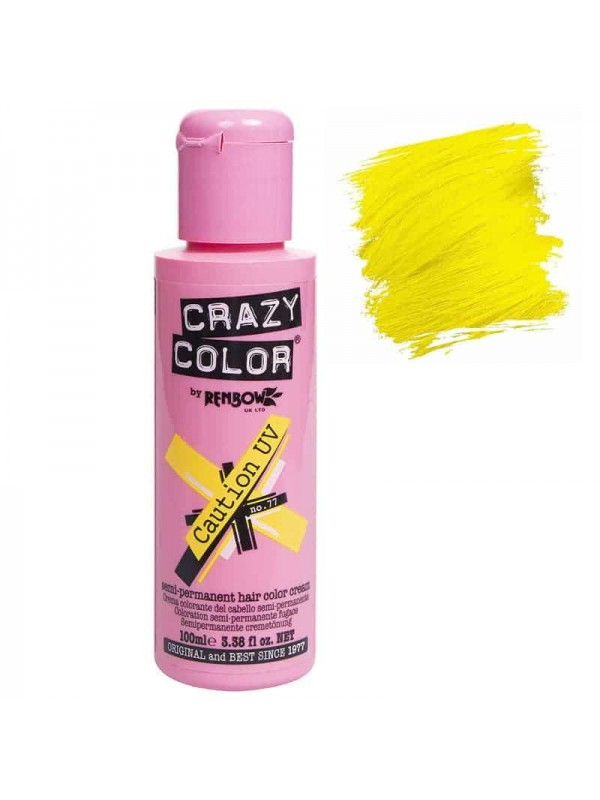 Coloration Semi Permanente Pour Cheveux Crazy Color Caution Uv