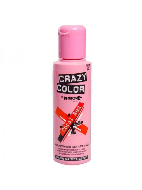 Coloration Semi Permanente Pour Cheveux Crazy Color Coral Red