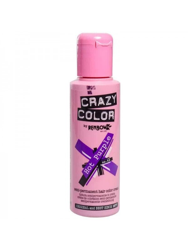 Coloration Semi Permanente Pour Cheveux Crazy Color Hot Purple