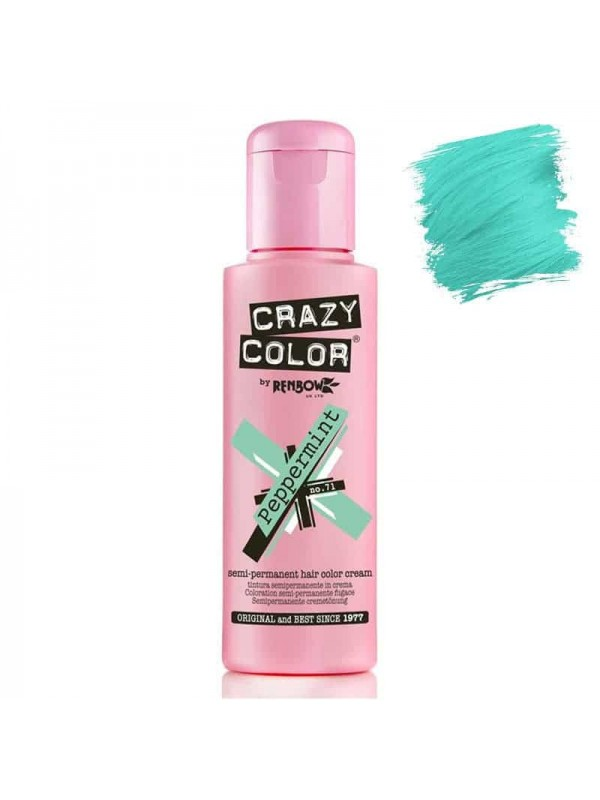 Coloration Semi Permanente Pour Cheveux Crazy Color Peppermint