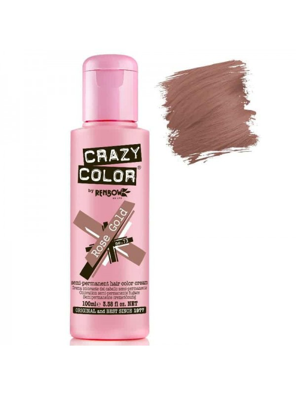 Coloration Semi Permanente Pour Cheveux Crazy Color Rose Gold