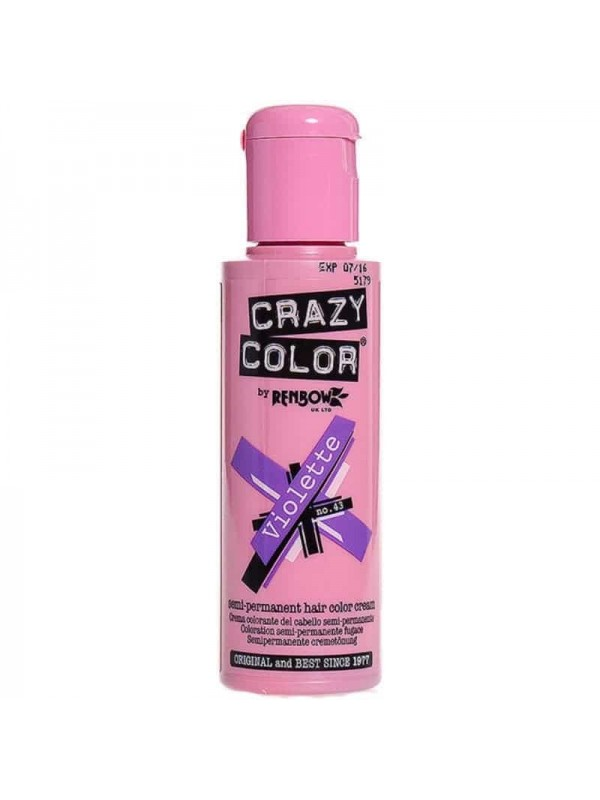 Coloration Semi Permanente Pour Cheveux Crazy Color Violette