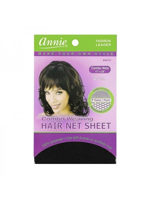 Combo Weaving Hair Net Sheet Fine/regular (17x14) N°4474 Annie