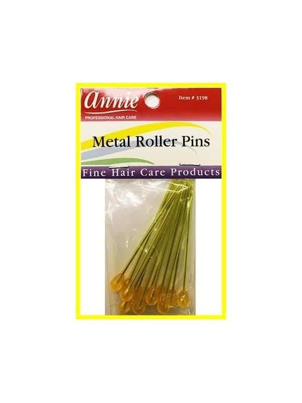 """Pics Métalisés Pour Bigoudis X12 """"Metal Roller Pins"""""""