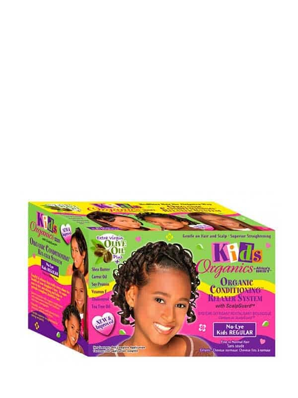 Kids Organics Conditioning No Lye Relaxer System Regular Kit Africa's Best