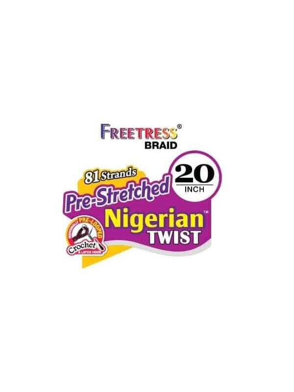 FreeTress 81 Strands Pre-Stretched Nigerian Twist 20″