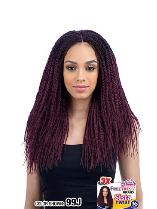 Crochet Braid Sista Twist 16″ Crochet Braid Free...