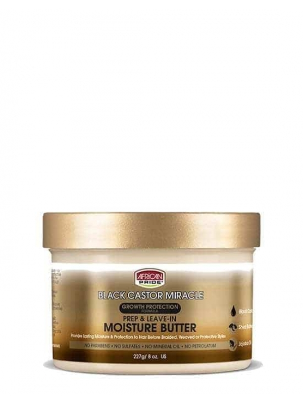 BLACK CASTOR MIRACLE PREP & LEAVE-IN MOISTURE BUTTER