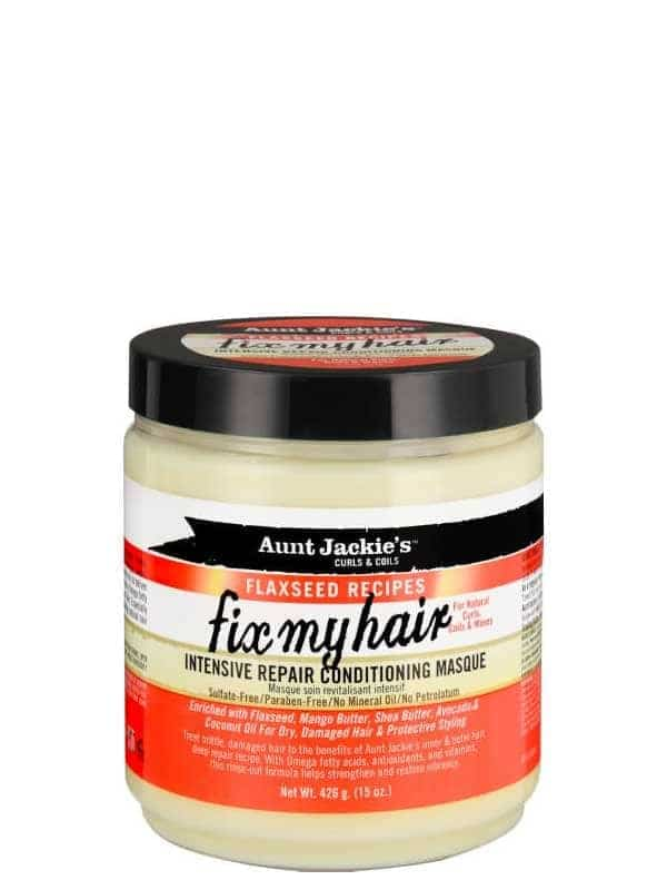 Flaxseed Recipes Fix My Hair Intensive Repair Conditioning Masque 426g Aunt Jackie's