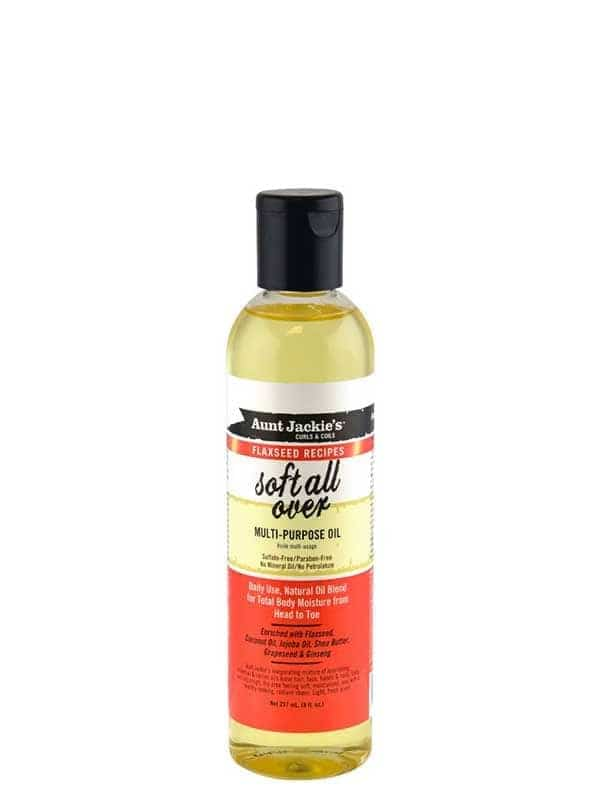 Flaxseed Recipes Soft All Over Multi Purpose Oil 237ml Aunt Jackie's