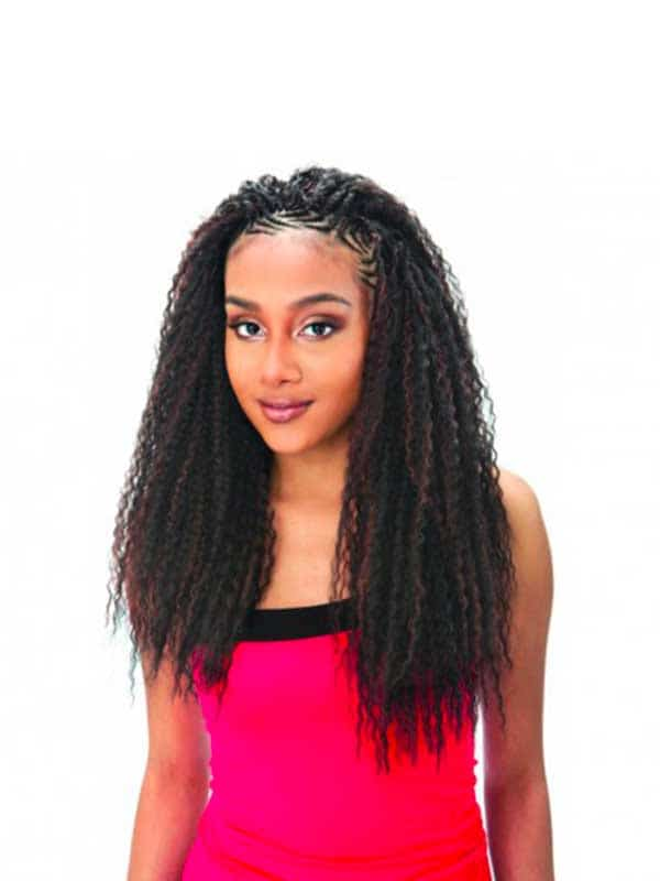 Tresses Brazilian Curl Braid Model Model