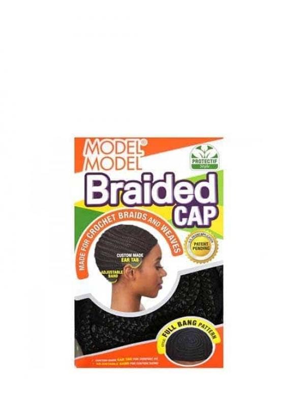 Bonnet Tressé Noir Pour Crochet Braids Model Mode...
