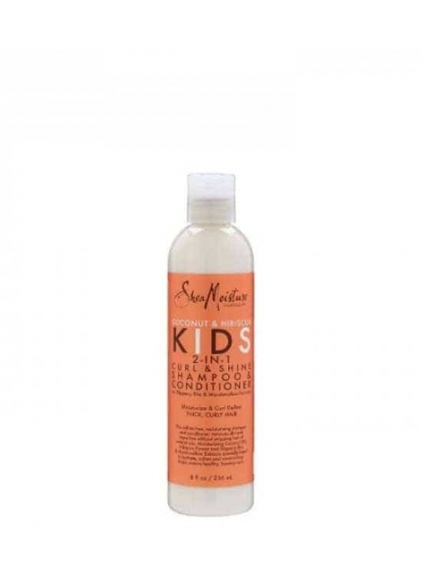 Coconut and Hibiscus Kids 2 in 1 Shampoo Conditioner 236 Ml Shea Moisture