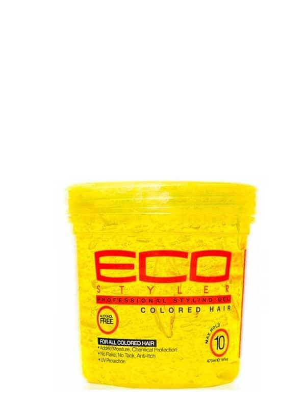 Color Treated Yellow Styling Gel / Gel Fixateur De Couleurs 473ml Eco Styler