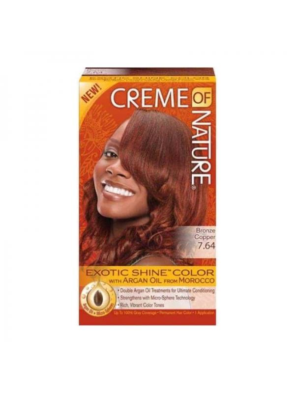 Colorant Capillaire Exotic Shine À L'huile D'argan Rouge Epicé Creme of Nature