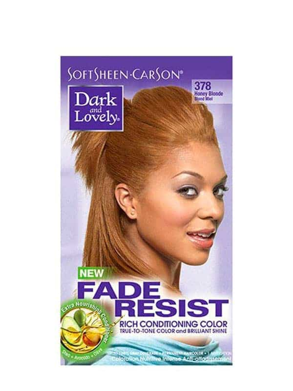 Fade Resist Light Golden Blonde Rich Conditioning Color Blond Miel 378 Dark and Lovely