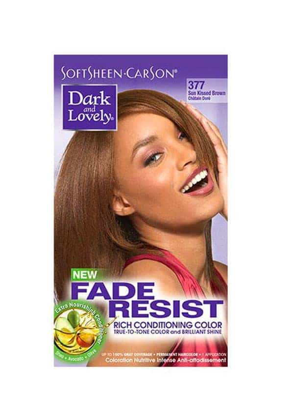 Fade Resist Light Golden Blonde Rich Conditioning Color Châtain Doré 377 Dark and Lovely