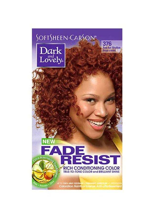 Fade Resist Light Golden Blonde Rich Conditioning Color Rouge Intense 376 Dark and Lovely