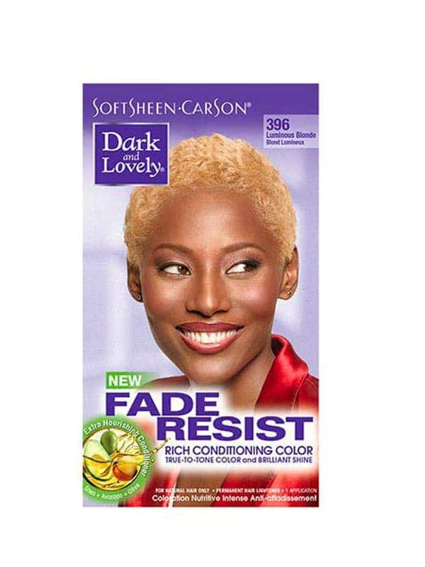 Fade Resist Luminous Blonde Rich Conditioning Color 396 Blond Lumineux Dark & Lovely