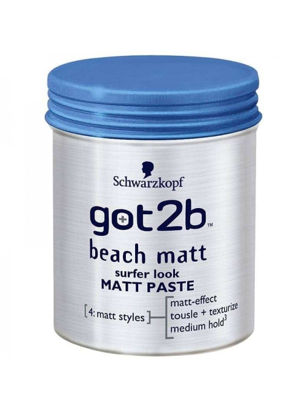 Got2b Beach Matt Surfer Look Paste 100ml Schwarzko...