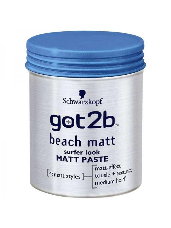 Got2b Beach Matt Surfer Look Paste 100ml Schwarzkopf