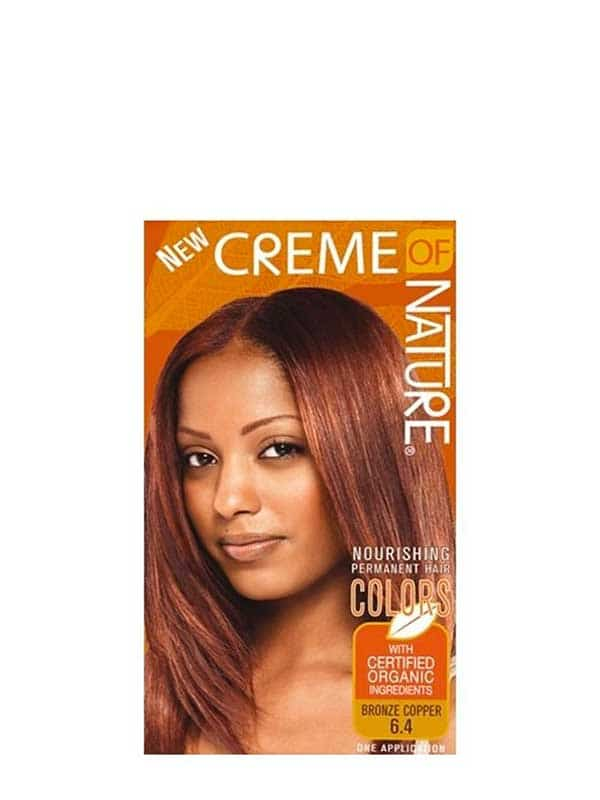 Hair Dye Color Bronze Copper 6.4 Creme of Nature