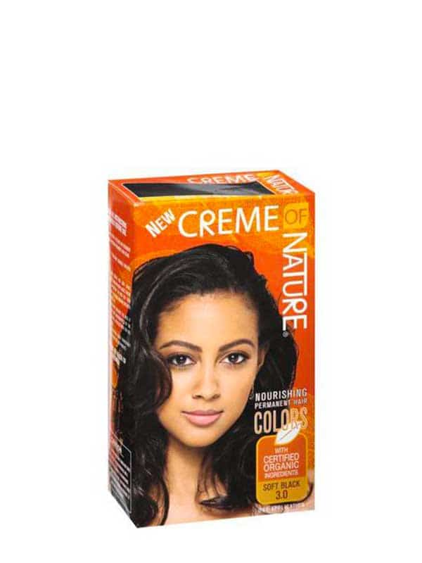 Hair Dye Color Soft Black 3.0 Creme of Nature