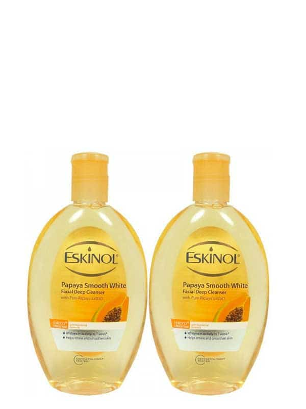 Lot De 2 Papaya Smooth White Facial Deep Cleanser 225ml Eskinol
