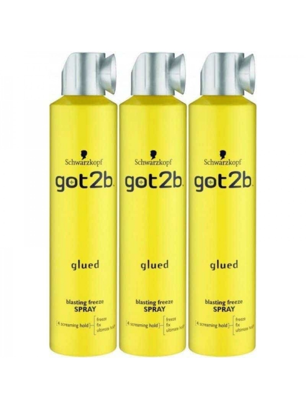Lot De 3 Got2b Blasting Freeze Spray 300 Ml Schwar...