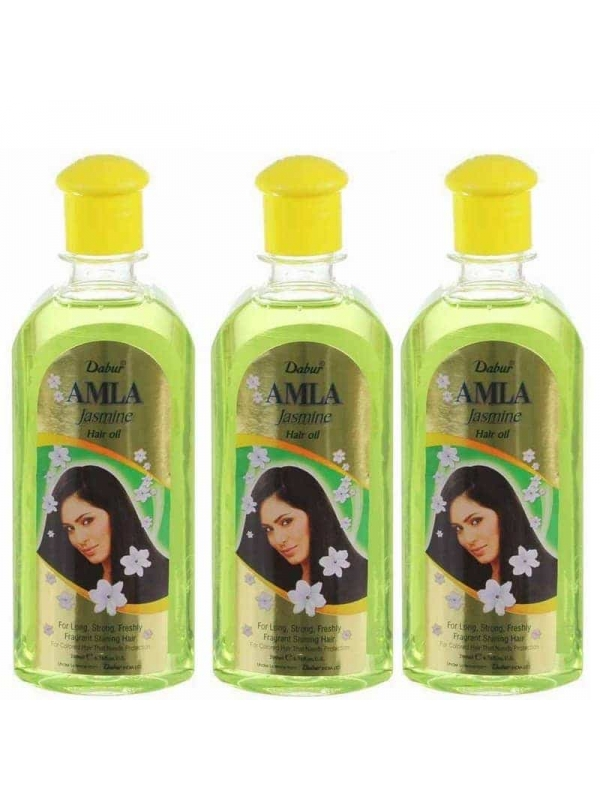 Lot De 3 Jasmine Hair Oil 200ml Dabur Amla