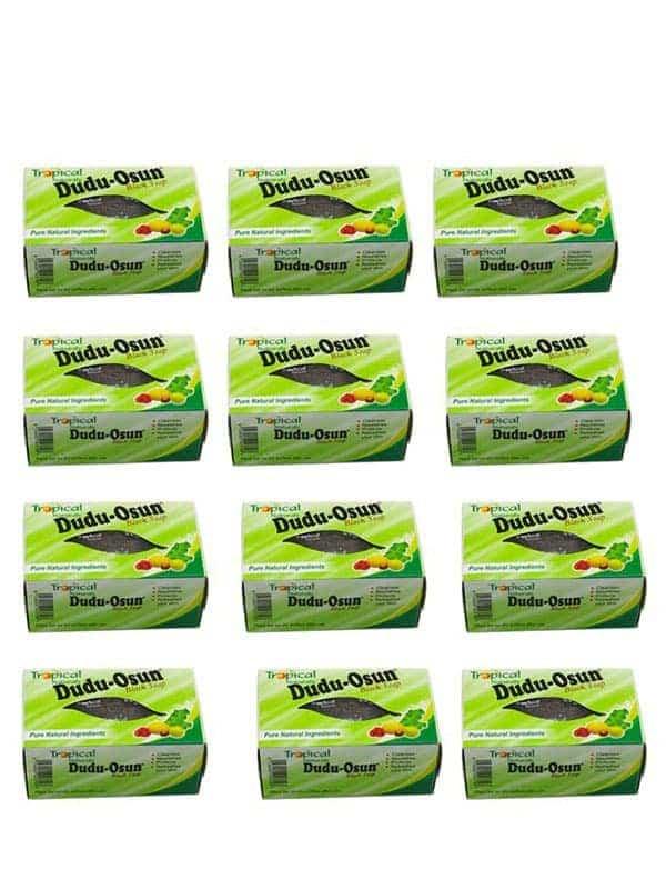 Lot De 12 Savon Noir Tropical Naturals 150g Dudu Osun