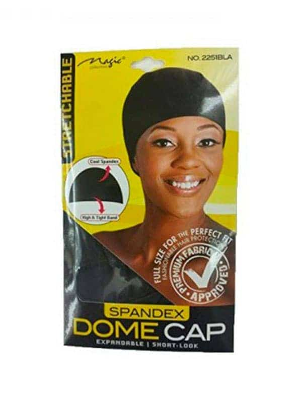 Magic Collection Expandable - Short-look Dome Cap With Elastic Band No 2251 Bla by Magic Collection