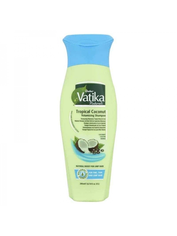 Natural Tropical Coconut Volumizing Shampoo 200 Ml Dabur Vatika