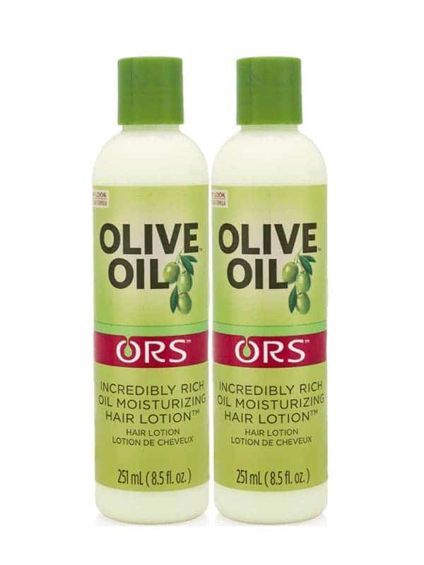 Olive Oil Lot De 2 Moisturizing Hair Lotion 251 Ml Ors