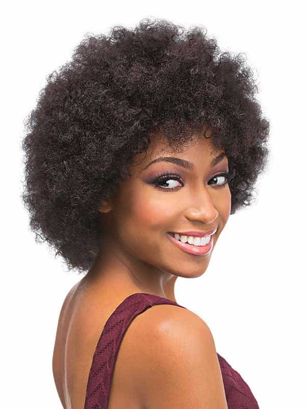 Perruque human hair velvet afro