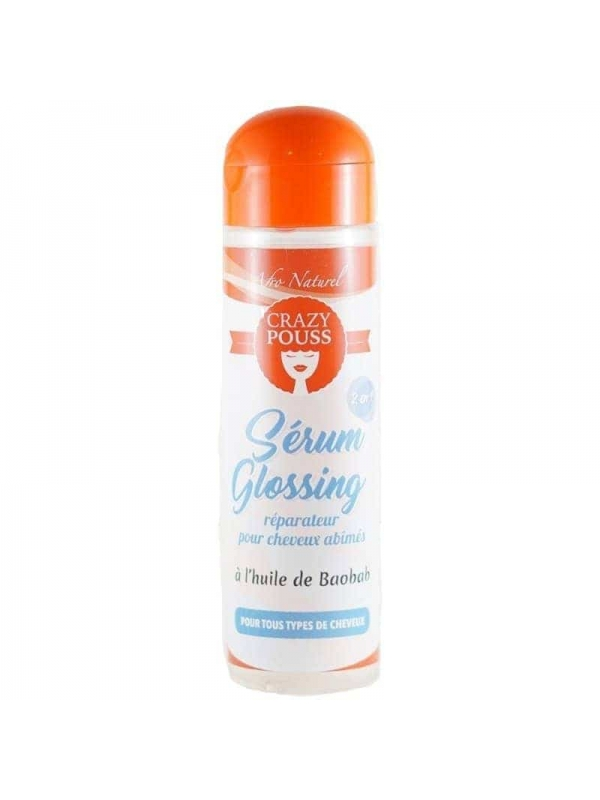 Sérum Glossing Réparateur À L'huile De Baobab Crazy Pouss 250ml Afro Naturel