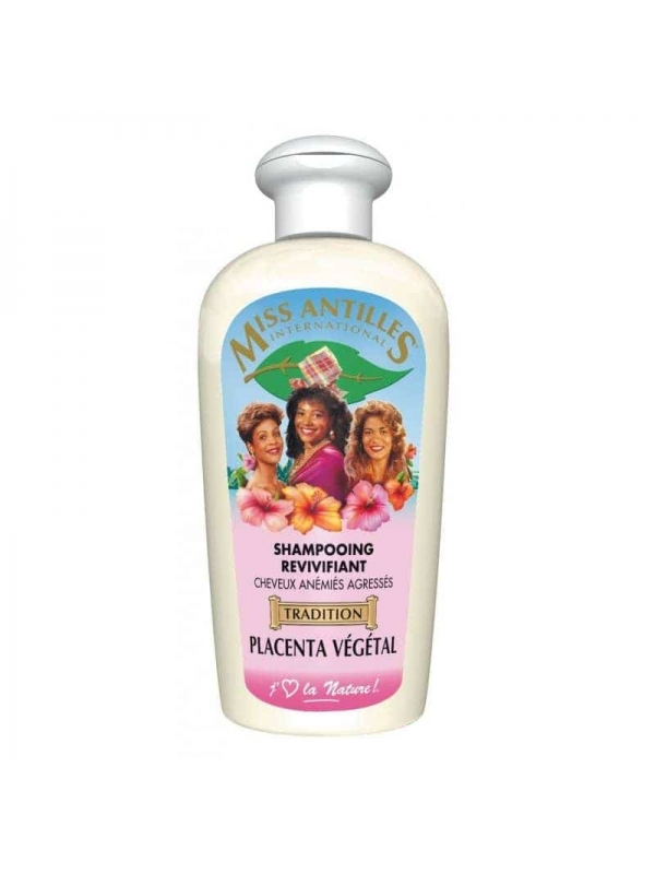 Shampooing Revivifiant Placenta Végétal 250 Ml De Miss Antilles International