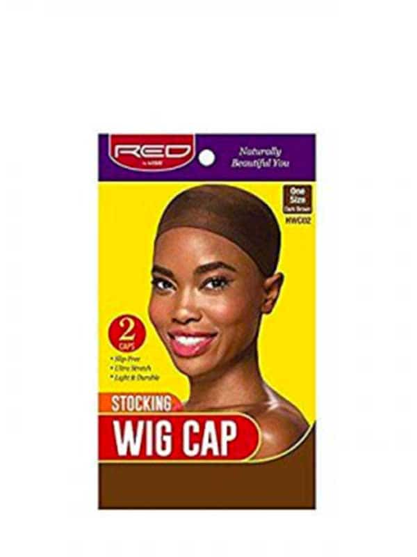 Stocking Wig Cap Dark Brown Hwc02 Red by Kiss
