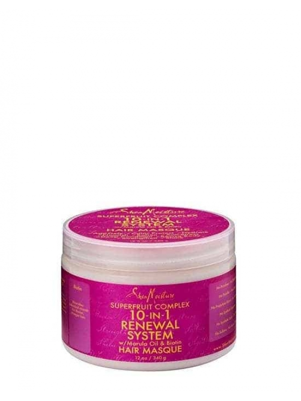Superfruit Complex 10 in 1 Renewal System With Marula Oil and Biotin Hair Masque 340 G Shea Moisture