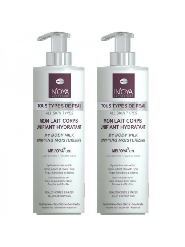 Lot De 2 Lait Corps Unifiant Hydratant 400ml in'oy...
