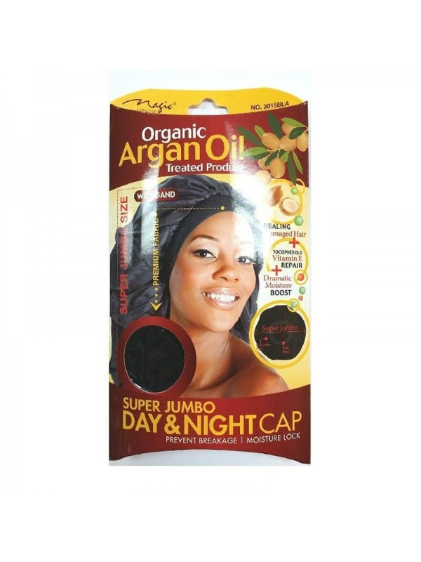 Organic Argan Oil Hair Sleep Cap & Bonnet Supe...