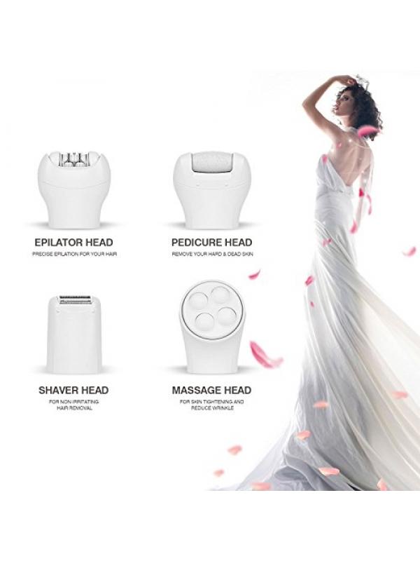 Hangsun 4 en 1 Epilateur  Cheveux Bras,Corps et Visage